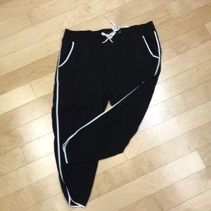 Torrid black rayon band pants